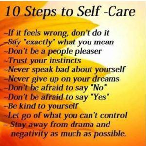 10 steps to self care